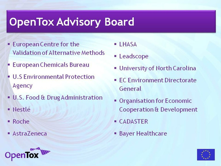 OpenTox Advisory Board